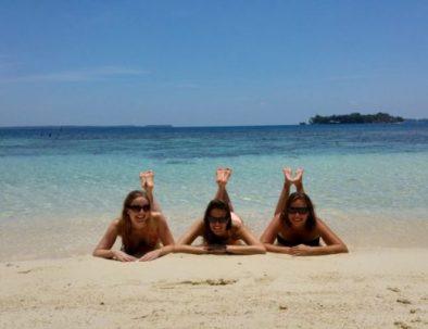 sunbathing karimunjawa snorkeling tour